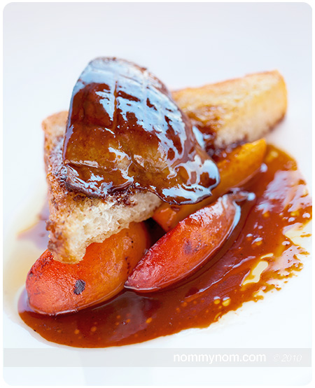 Seared Foie on Brioche with Apricots at Allium Restaurant on Orcas Island