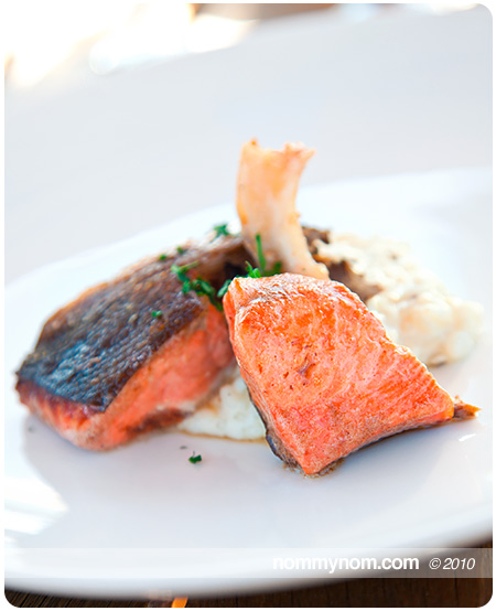 Salmon Chops and Truffled Risotto at Allium Restaurant